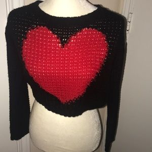 Black & Red Knitted Sweater